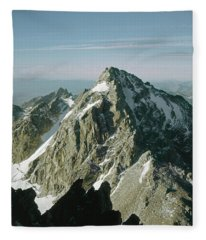 T-209207-middle Teton From Grand Teton Fleece Blanket