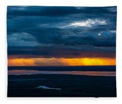 Midnight Alaskan Storms Fleece Blanket