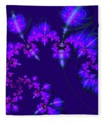 Midnight Blossoms Fleece Blanket