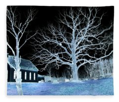 Midnight Country Church Fleece Blanket
