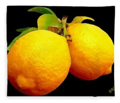 Midnight Lemons Fleece Blanket