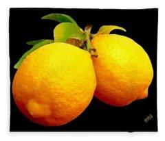 Midnight Lemons Fleece Blanket