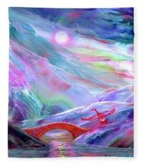 Midnight Silence, Flying Goose Fleece Blanket