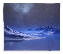 Midnight Snow Fleece Blanket
