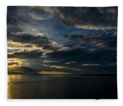 Midnight Sun Over Cook Inlet Fleece Blanket