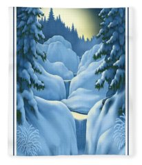 Midnight Sun Fleece Blanket
