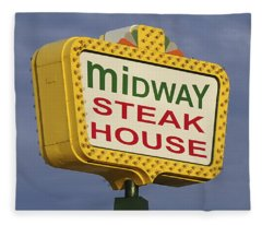 Midway Seaside Heights Boardwalk Nj Fleece Blanket