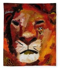 Mighty Lion Fleece Blanket