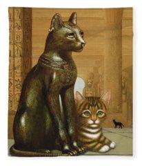 Mike The British Museum Kitten Fleece Blanket