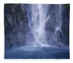 Fleece Blanket featuring the photograph Milford Sound New Zealand by Jocelyn Friis