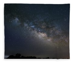 Fleece Blanket featuring the photograph Milky Way Above The Trees by Todd Aaron