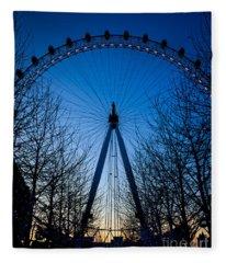 Millennium Eye London At Twilight Fleece Blanket