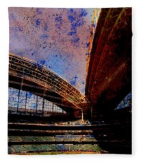 Miller Park 2 W Paint Fleece Blanket
