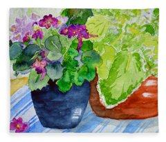 Mimi's Violets Fleece Blanket