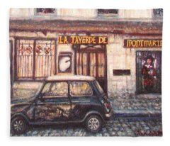 Mini De Montmartre Fleece Blanket