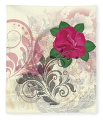Mini Rose Flourish Fleece Blanket