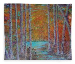 Minnesota Sunset Fleece Blanket