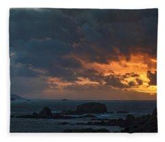 Mirandas Islands Galicia Spain Fleece Blanket