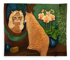 Mirror Mirror On The Wall Fleece Blanket