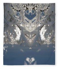 Mirror Of Snow  Fleece Blanket