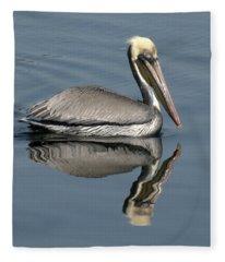 Mirror Pelican Fleece Blanket