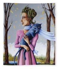 Miss Pinky's Outing Fleece Blanket