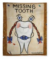 Missing Tooth Fleece Blanket