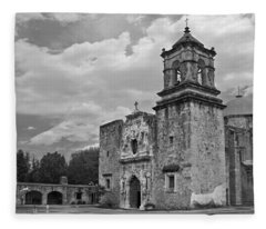 Mission San Jose Bw Fleece Blanket