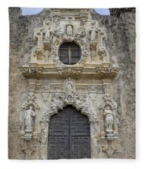 Mission San Jose Doorway Fleece Blanket