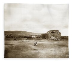 Mission San Juan Capistrano California Circa 1882 By C. E. Watkins Fleece Blanket