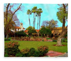 Mission San Juan Capistrano No 11 Fleece Blanket