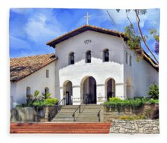Mission San Luis Obispo De Tolosa Fleece Blanket