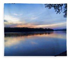 Missouri River Blues Fleece Blanket