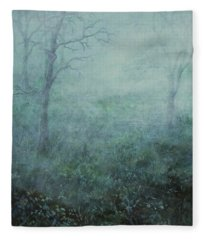 Mist On The Meadow Fleece Blanket
