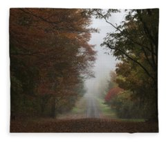 Misty Fall Morning Fleece Blanket