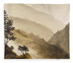 Misty Hills Fleece Blanket