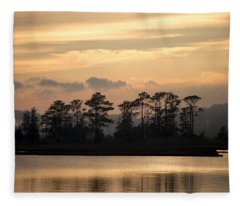 Misty Island Of Assawoman Bay Fleece Blanket