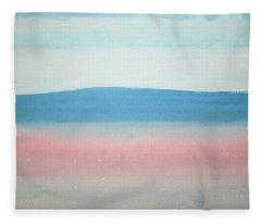 Misty Lake Original Painting Fleece Blanket