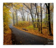 Misty Minnesota Mile Fleece Blanket