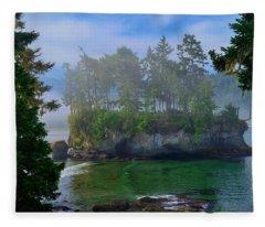 Misty Seastack Fleece Blanket