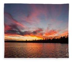 Mn Sunset Symphony Fleece Blanket