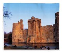 Moat Around A Castle, Bodiam Castle Fleece Blanket