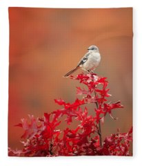 Mockingbird Autumn Fleece Blanket