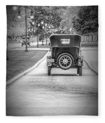 Model T Ford Down The Road Fleece Blanket