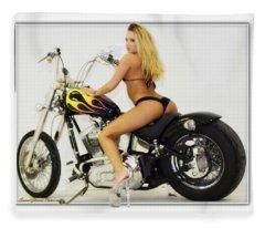 Models And Motorcycles_k Fleece Blanket