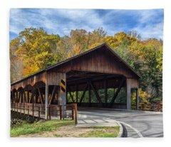 Mohican Covered Bridge Fleece Blanket