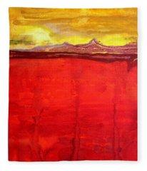 Mojave Dawn Original Painting Fleece Blanket