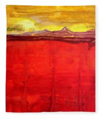 Mojave Dawn Original Painting Fleece Blanket