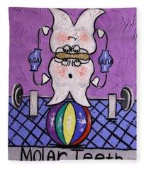 Molar Teeth Fleece Blanket