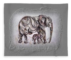 Mom Elephant Fleece Blanket